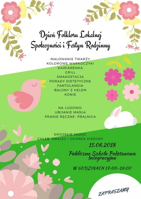 Zapraszamy na III Dzień Folkloru Społeczności Lokalnej i Festyn Rodzinny