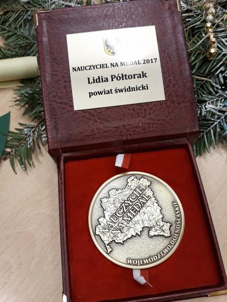 Pani Lidia Półtorak - Nauczyciel na Medal !Nauczyciel na Medal !
