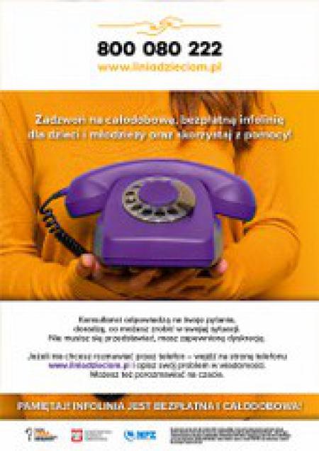 Bezpłatna infolinia dla dzieci i młodzieży