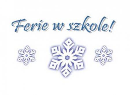 Półkolonie zimowe - zmiany w harmonogramie