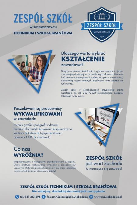 Oferta edukacyjna Zespołu Szkół w Świebodzicach